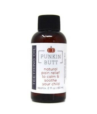 Punkin Butt Teething Oil 2oz Natural Pain Relief for Infants Manufacturer Sealed