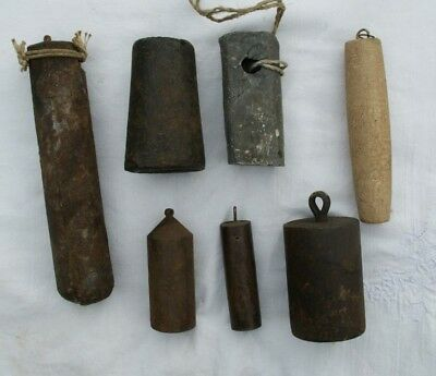 Job Lot Of  Antique  Lead & Other Clock Weights