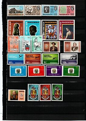 Rhodesia. 1967-74 EIGHT great sets of mint stamps. See below for details