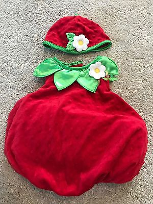 Strawberry costume 3-6m