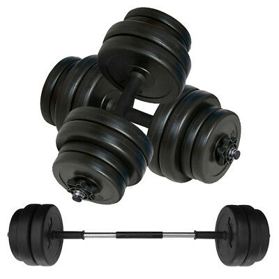 Dumbbell Weight Set & Barbell Link - Adjustable Vinyl Free Weights for Home Gym