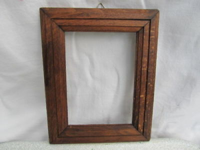 Old Antique Primitive Hand Carved Wooden Photo Pictures Frame Wall Hanging