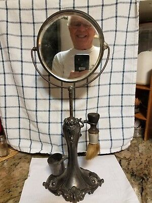 Antique Shaving Mirror And Stand,,