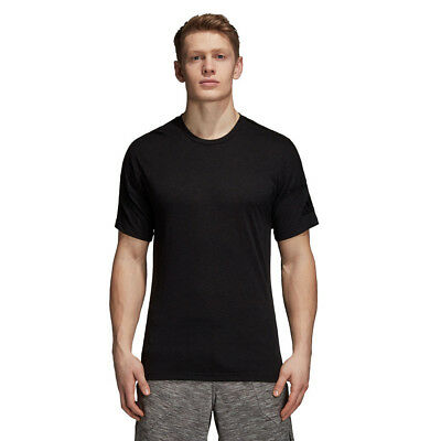 adidas Mens ZNE Wool T Shirt Tee Top Black Sports Gym Running Breathable