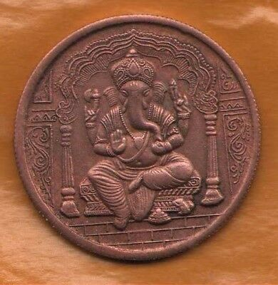 1835 Lord Ganesha EAST INDIA COMPANY ONE ANNA RARE TEMPLE TOKEN