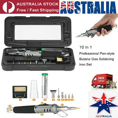 10in1Butane Gas Soldering Iron Set 26ml Welding Kit Torch HS-1115K Pen Type