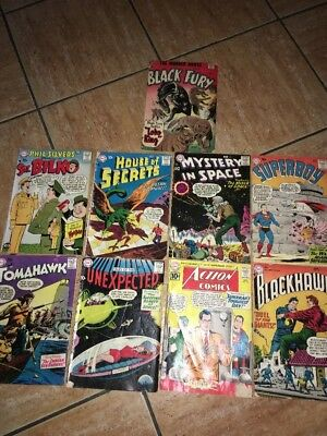DC Comics Books 10c Lot of 9 Poor To Acceptable Condition