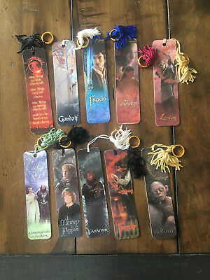 Lord of the Rings 10 Bookmark Set RARE