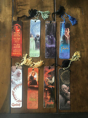 Lord of the Rings 8 Bookmark Set RARE