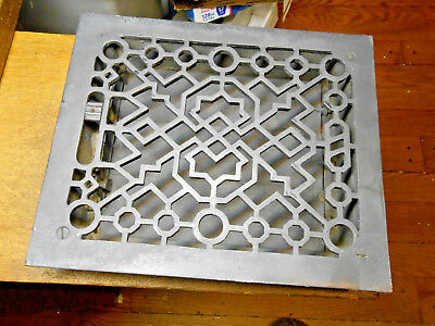 Antique Cast Iron Louvered Heat Floor Grate 8X10 Duct