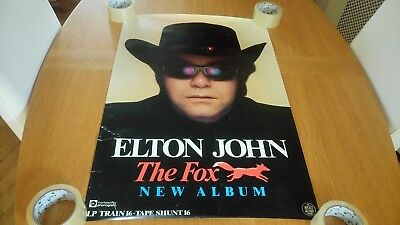 Elton John - The Fox ORIGINAL Promotional Poster