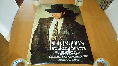 Elton John - Breaking Hearts ORIGINAL Promotional Poster