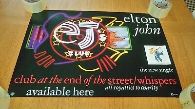 Elton John - Club at the End of the Street/Whispers ORIGINAL Promotional Poster