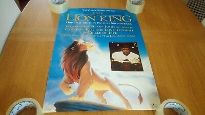 Elton John - The Lion King ORIGINAL Promotional Poster