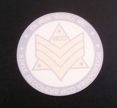 2  New Jersey State Police Trooper Decals *NCO* PBA STFA 2018