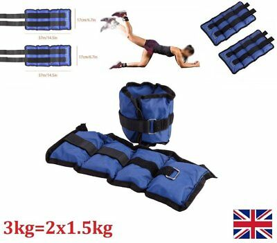 Wrist Ankle Weights Leg Strap Resistant Strength 5KG Training Fitness Running UK