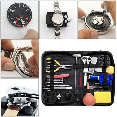 Watch Repair Tool Kit Watchmaker Back Case Link Remover Opener Spring Pin Bar