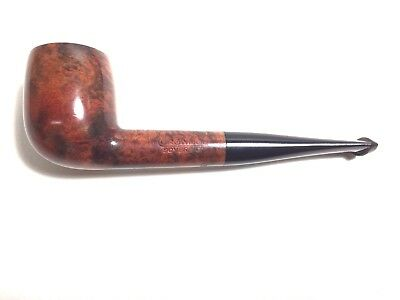 """""""unsmoked"""" Vintage Crowned Sovereign Flame Grain Italian Made Billiard"""