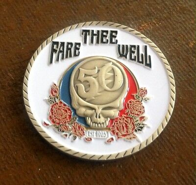 challenge coin CHICAGO  Police  2 Inch Grateful Dead 50th fare thee well 50th