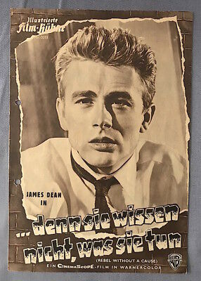 Vintage 1950s JAMES DEAN in REBEL WITHOUT A CAUSE German MOVIE HERALD