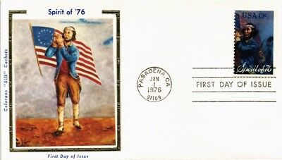 Dr Jim Stamps Us Spirit Of 76 Flute Colorano Silk First Day Cover 1976