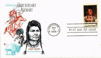 Dr Jim Stamps Us American Indian Chief Joseph First Day Cover Craft 1968