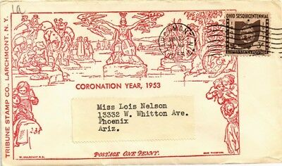 Dr Jim Stamps Us Coronation Year Tribune Stamps Larchmont New York Cover