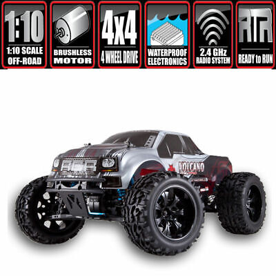 Rc Truck Volcano Epx Pro Redcat Electric Monster Truck Rtr 1/10 Scale Silver
