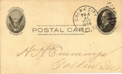 Dr Jim Stamps Us Chicago Kansas City Railway Post Office Postal Card 1906