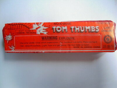 Tom Thumbs Ladyfingers Firecracker Pack Label -350's