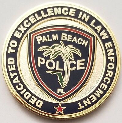 Palm Beach Florida Police Department PBPD April 17, 1911 Palm Trees Coin