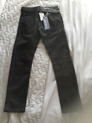 Debenhams RJR John Rocha Boys Skinny Black Trousers Jeans With Belt Age 9 Bnwt