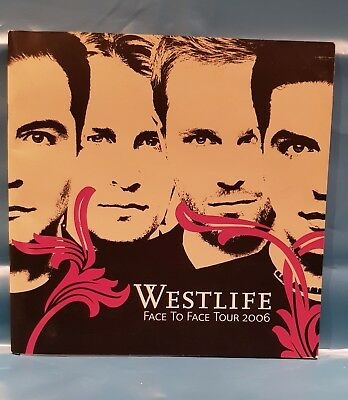 Westlife- Face To Face Tour 2006 programme - great condition