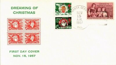 Dr Jim Stamps Us Christmas Seals Cinderella Franked Santa Claus Indiana Cover