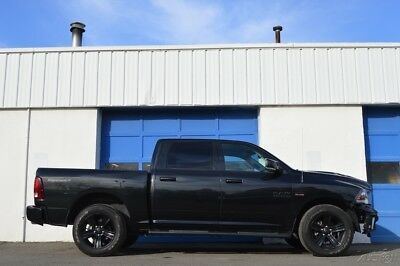Ram 1500 Sport Night Leather Heated Ventilated Seats Navi Rear Cam Bed Liner Uconnect Park Sensors +