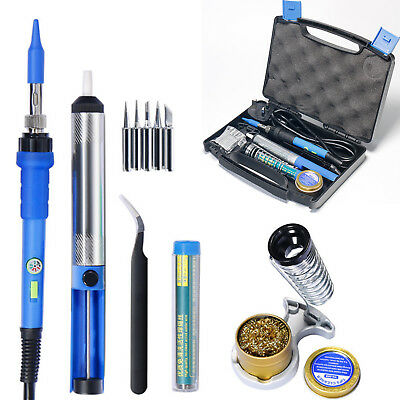 60W 240V Soldering Iron Kit Electronics Welding Tool Adjustable Temperature Pump
