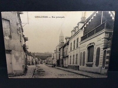 CPA  ancienne -28 -COULOMBS rue principale