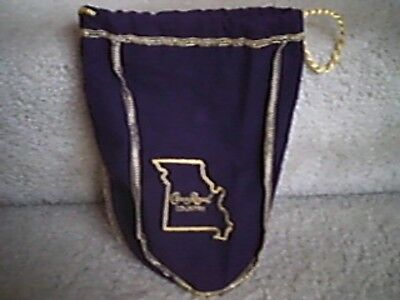 "Crown Royal Country MISSOURI 7"" x 9"" Purple Bag - Limited Edition"