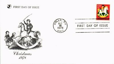 Dr Jim Stamps Us Rocking Horse Christmas First Day Cover Holly Michigan 1978