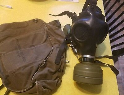 Vintage Army Military Gas Mask and Carrier