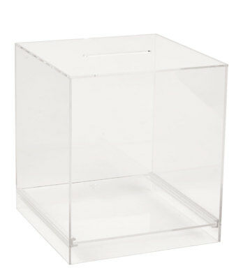 Large Acrylic Ballot Box