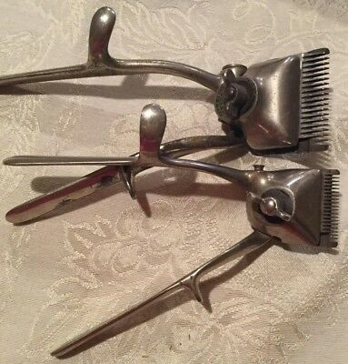 Antique Bressant Brown & Sharpe Barbers No. 000  & No. 1 clippers pat. 1879