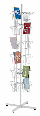 Rotating Greeting Card Rack - 48-Pocket