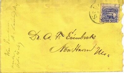 Dr Jim Stamps Us Tied Ladies Cover St Louis Missouri 1869 Postal History