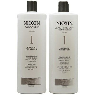 Nioxin System 1 Cleanser & Scalp Therapy Set (33.8oz each)