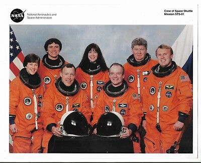 Nasa Photo Litho Space Shuttle Crew STS-91--1991 m15