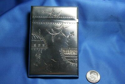 Vintage Gorham Antique Sterling Silver Card Holder #21 With 1872 Date, PRISTINE