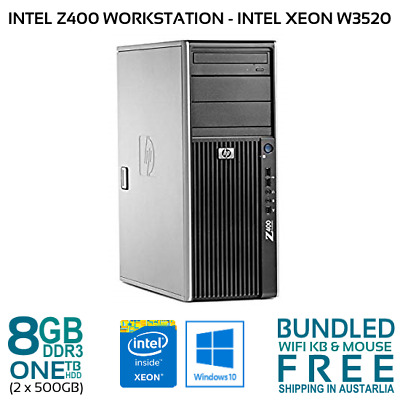 Hp Z400 Workstation Intel Xeon W3520 2.67Gh 8Gb 1Tb Hdd Nvdia Quadro Fx1700 W10P