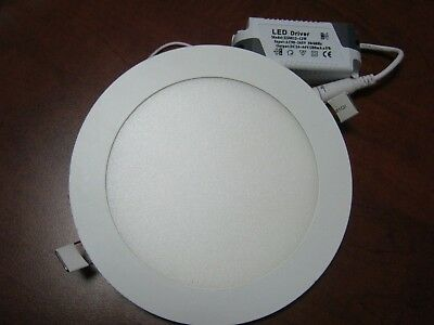 24W 11inch Round No Dimmable LED  Recessed Ceiling Panel Light Natural White