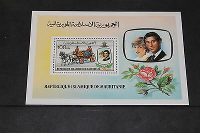 Rep De Mauritanie 1981 Princess Diana Royal Wedding M/sheet   Very Fine M/n/h